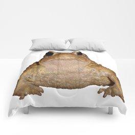 Bufo Bufo European Toad  Isolated Comforters