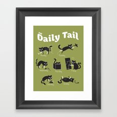 The Daily Tail Cat Framed Art Print
