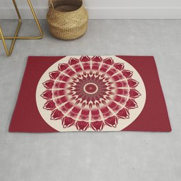 Mandala red splendor Rug