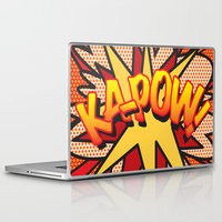 comic book Laptop & iPad Skins featuring Comic Book KA-POW! by The Image Zone