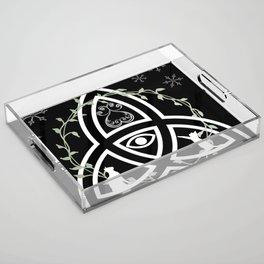 Celtic Knot, Evil Eye, and Cats Acrylic Tray