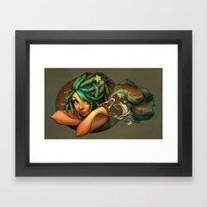 Smoking Fish Framed Art Print