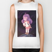bee and puppycat Biker Tanks featuring Bee and Puppycat by Steph Harrison