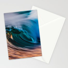 Slow Shutter Of Wave Stationery Cards