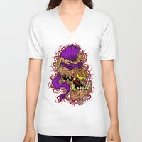 bebop V-neck T-shirts featuring Bebop is infected! by DesecrateART (Infected)