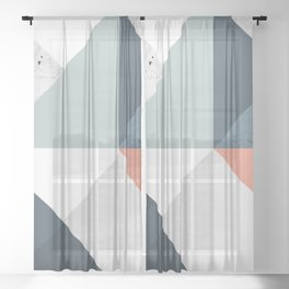 Modern Geometric 12 Sheer Curtain