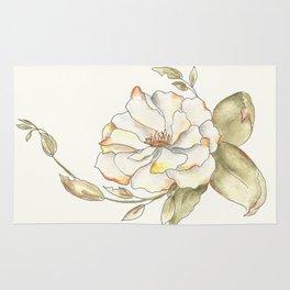 Shrub Rose (white) Rug