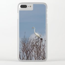 Great Egret in Tree Clear iPhone Case
