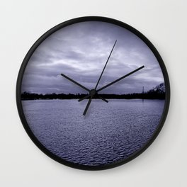 Shimmering water Wall Clock