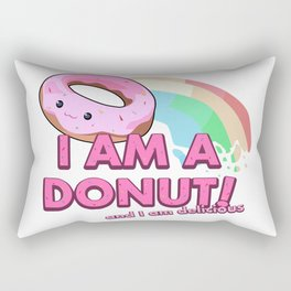 I am a Donut, and I am delicious Rectangular Pillow