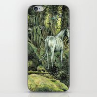 pixies iPhone & iPod Skins featuring Unicorn & Pixies by Mike Lowe