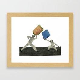 Pillow Fighters Framed Art Print