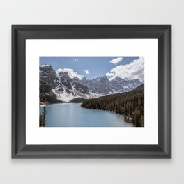 Landscape Photography Lake Moraine Mountain ridge Framed Art Print