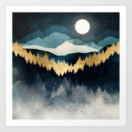 Indigo Night Art Print