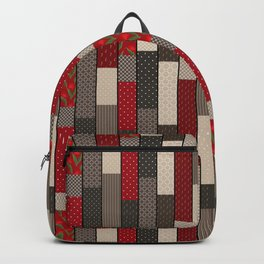 Country motifs . Classic quilting. Backpack