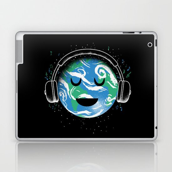 The whole planet loves music Laptop & iPad Skin
