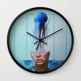 Jellyfish blue. Wall Clock