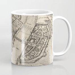 Vintage Pictorial Map of Frankfurt Germany (1575) Coffee Mug