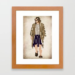 The Big Lebowski Inspired The Dude Typography Artwork Framed Art Print