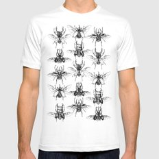 Scarabs MEDIUM Mens Fitted Tee White