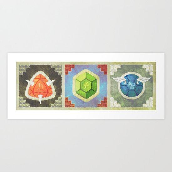 Troopa Triptych Art Print