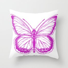 Butterfly - Violet - Beautiful - purple Throw Pillow