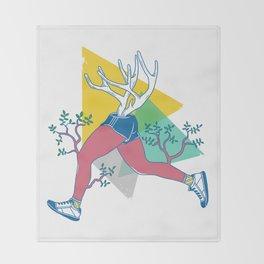Run like a deer Throw Blanket