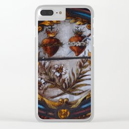 Sacred Hearts Clear iPhone Case