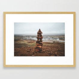 The Geothermal Inukshuk  Framed Art Print