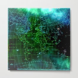 earth map Metal Print