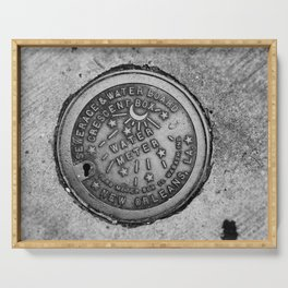 New Orleans Water Meter Serving Tray