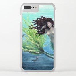 Calypso Nude Mermaid Underwater Clear iPhone Case