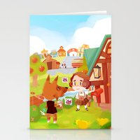 animal crossing Stationery Cards featuring Animal Crossing by Sama Ma