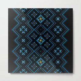 psychedelic upgrade ancient nordic embroidery Metal Print