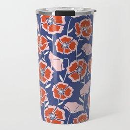 Poppin Poppies Travel Mug