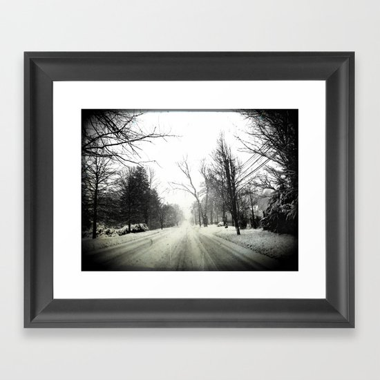 The Only Way Out Framed Art Print