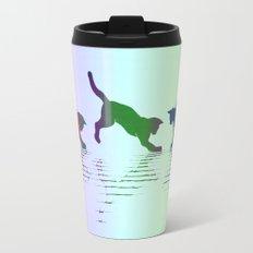 CATS RAINBOW Metal Travel Mug