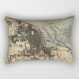 Vintage Map of Tacoma Washington (1895) Rectangular Pillow