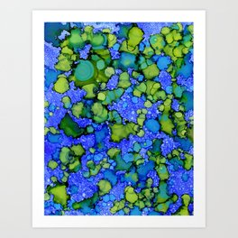 Algae Splatter Art Print