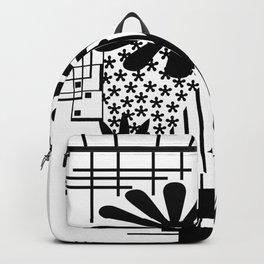 Black And White Flower Zentangle Backpack