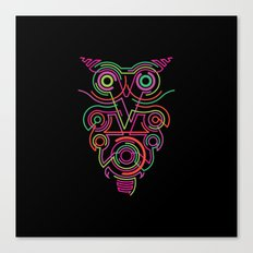 owl pink Canvas Print