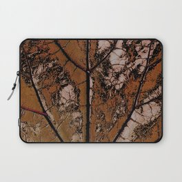 OLD BROWN LEAF WITH VEINS SHABBY CHIC DESIGN ART Laptop Sleeve
