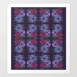 flower group mirrored Art Print
