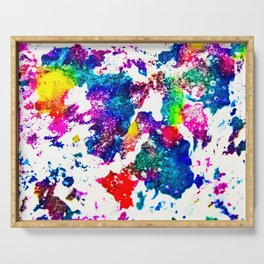 queer radiation —abstract art » modern print » trippy experimental Serving Tray