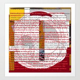 word pillow poems 01 Art Print
