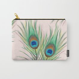 Unique Peacock Feathers Pattern Carry-All Pouch