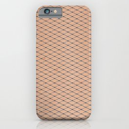Silver Woven Fishnets With Skin Texture iPhone Case
