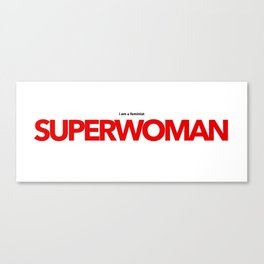 Feminist Superwoman Red Canvas Print