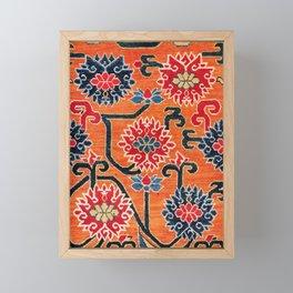 Shigatse South Tibetan Jabuye Rug Print Framed Mini Art Print