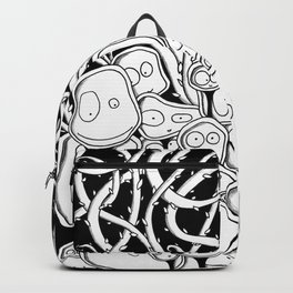 Many Monsters in Black Backpack